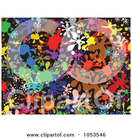 Royalty-Free Clip Art Illustration of a Background Pattern Of Splatters - 3 by Prawny