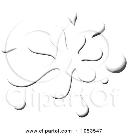 Royalty-Free Clip Art Illustration of a White Paint Splatter by Prawny