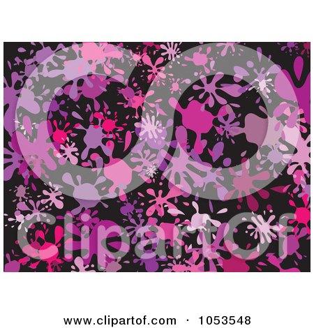 Royalty-Free Clip Art Illustration of a Background Pattern Of Splatters - 7 by Prawny