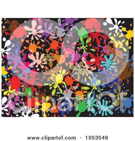Royalty-Free Clip Art Illustration of a Background Pattern Of Splatters - 2 by Prawny
