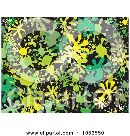 Royalty-Free Clip Art Illustration of a Background Pattern Of Splatters - 5 by Prawny