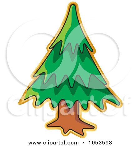 Royalty-Free Vector Clip Art Illustration of a Peeling Christmas Tree Sticker by Any Vector