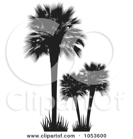 Royalty-Free Vector Clip Art Illustration of Silhouetted Palm Trees by Any Vector