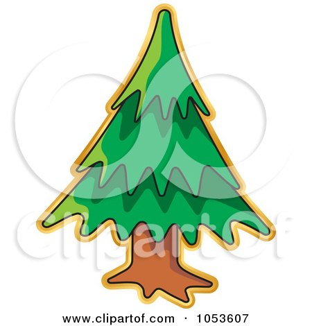 Royalty-Free Vector Clip Art Illustration of a Christmas Tree Sticker by Any Vector