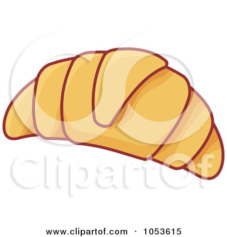 Royalty-Free Vector Clip Art Illustration of a Croissant by Any Vector