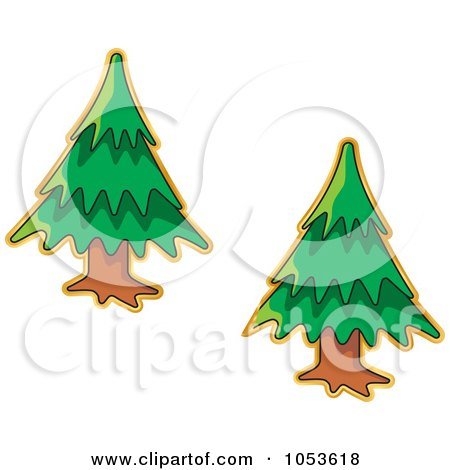 Royalty-Free Vector Clip Art Illustration of a Digital Collage Of Christmas Tree Stickers by Any Vector