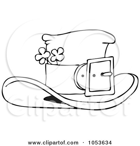 Coloring free leprechaun sheet free coloring pages for Leprechaun hat coloring page