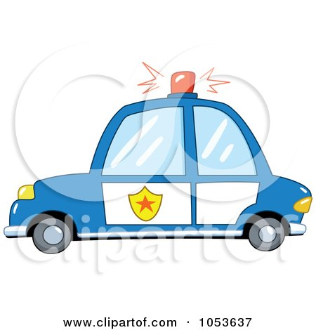 Royalty-Free Vector Clip Art Illustration of a Police Car by yayayoyo