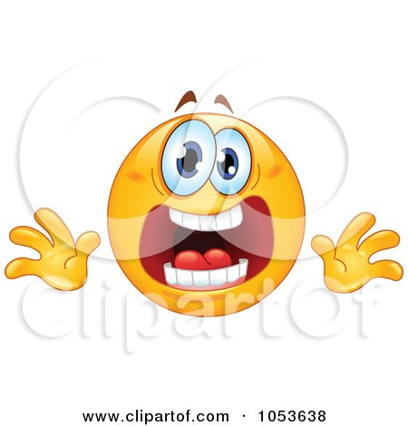 Royalty-Free Vector Clip Art Illustration of a Stressed Emoticon Face by yayayoyo