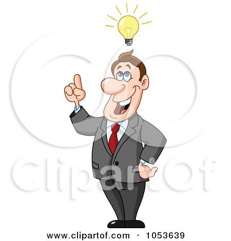 Royalty-Free Vector Clip Art Illustration of a Creative Business Man by yayayoyo