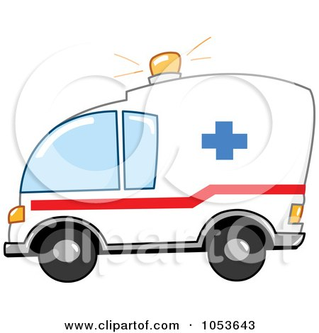 Royalty-Free Vector Clip Art Illustration of an Ambulance by yayayoyo