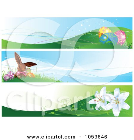 Royalty-Free Vector Clip Art Illustration of a Digital Collage Of Easter Website Banners by Pushkin