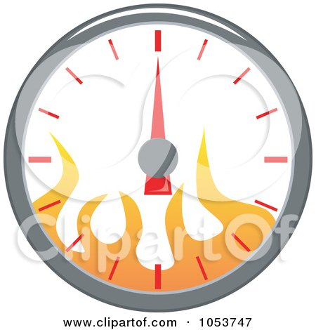 Royalty-Free Vector Clip Art Illustration of a Speedometer With Flames by patrimonio