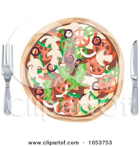 pizza clip art. Royalty-Free Vector Clip Art