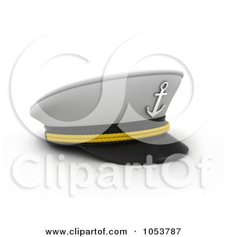 Royalty-Free 3d Clip Art Illustration of a 3d Captain Cap by BNP Design Studio