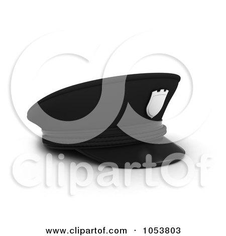 Royalty-Free 3d Clip Art Illustration of a 3d Police Cap by BNP Design Studio