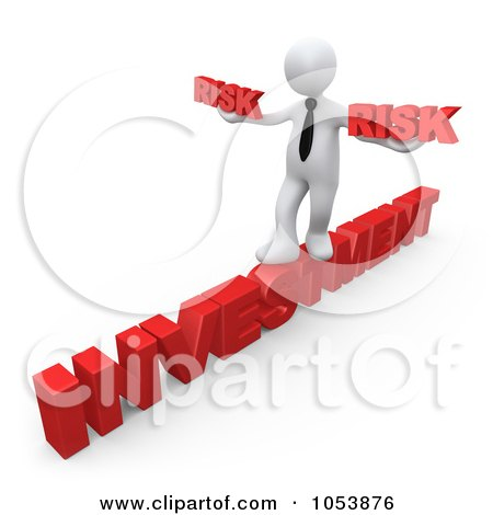 Free 3d Clip Art Illustration of a 3d White Businessman Taking A Risk    Risk Taker Clipart