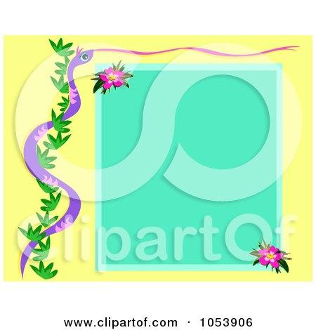 flower frame clipart. And Vine Flower Frame
