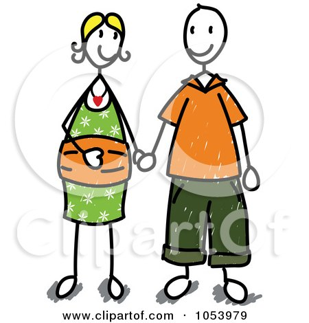 stick people holding hands clip art. Royalty-Free Vector Clip Art