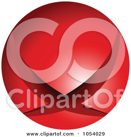 Royalty-Free 3d Vector Clip Art Illustration of a Red Sphere Logo by vectorace