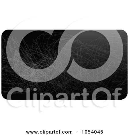 Royalty-Free Vector Clip Art Illustration of an Abstract Black Business Card Or Background Design - 1 by vectorace