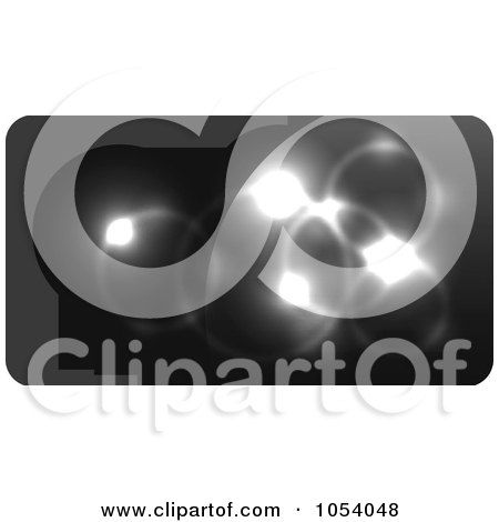Royalty-Free Vector Clip Art Illustration of an Abstract Black Business Card Or Background Design - 3 by vectorace