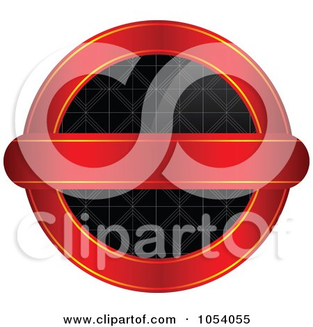 Royalty-Free Vector Clip Art Illustration of a Red, Gold And Black Vintage Round Label by vectorace