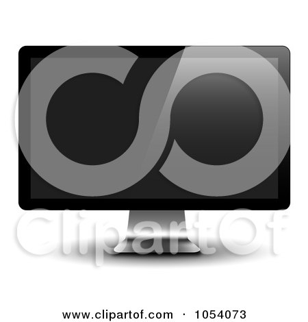 Royalty-Free Vector Clip Art Illustration of a 3d LCD Monitor by vectorace