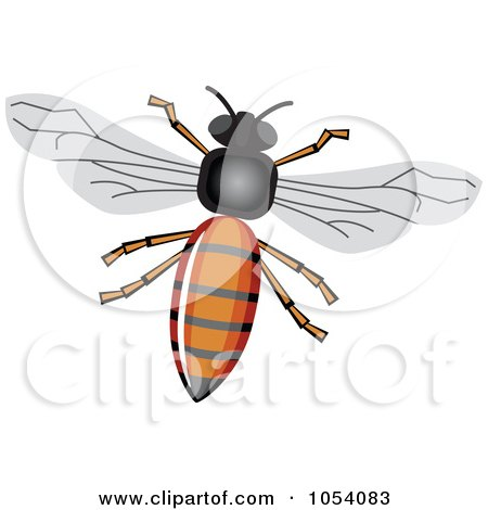 Royalty-Free Vector Clip Art Illustration of a Honey Bee by vectorace