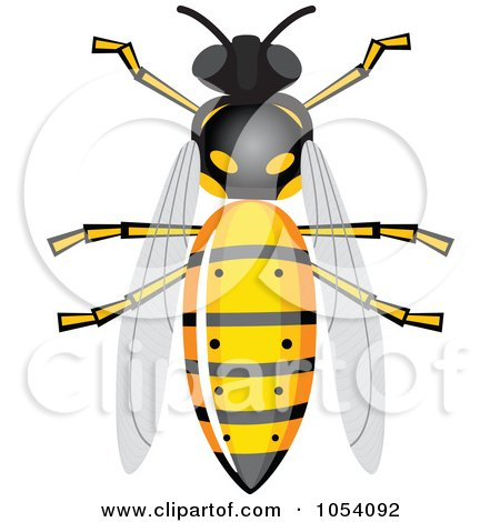 Royalty-Free Vector Clip Art Illustration of a Bee by vectorace