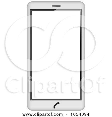 Royalty-Free Vector Clip Art Illustration of a 3d white Cell Phone by vectorace