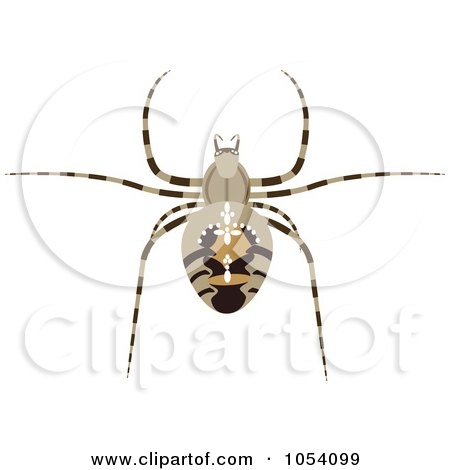 Royalty-Free Vector Clip Art Illustration of a Spider by vectorace