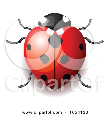 Royalty-Free Vector Clip Art Illustration of a Heart Shaped Ladybug by vectorace