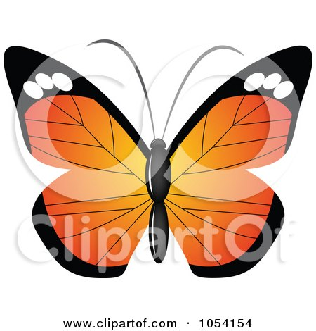 Royalty-Free Vector Clip Art Illustration of a Butterfly by vectorace