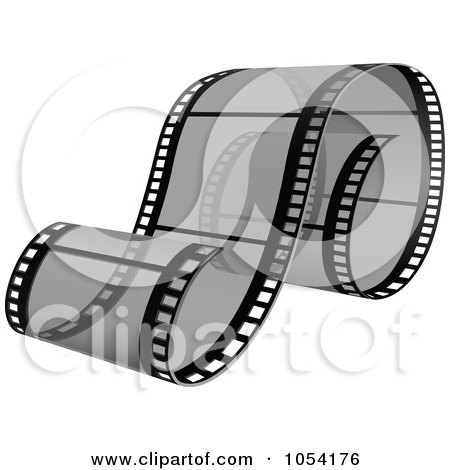 Royalty-Free Vector Clip Art Illustration of a Gray Film Strip by dero