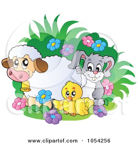 Royalty-Free Vector Clip Art Illustration of Spring Animals by visekart