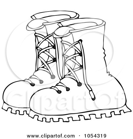 Royalty-Free (RF) Clip Art Illustration of a Pair Of Leather Boots by djart #442601