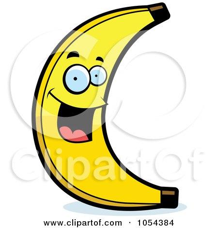 Royalty-Free Vector Clip Art Illustration of a Happy Banana Character by Cory Thoman