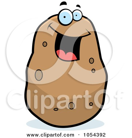 Royalty-Free Vector Clip Art Illustration of a Happy Potato Character by Cory Thoman