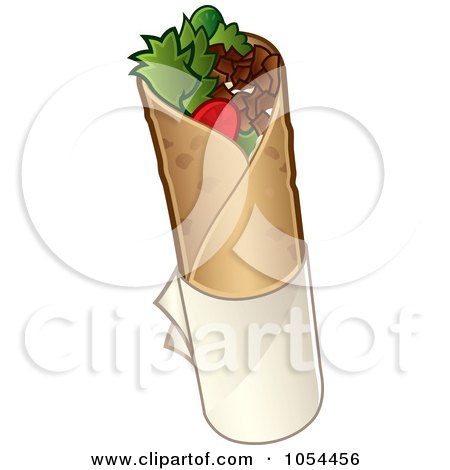 Royalty-Free Vector Clip Art Illustration of a Doner Kebab Wrap by TA Images