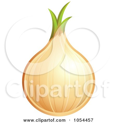Royalty-Free Vector Clip Art Illustration of a White Onion by TA Images