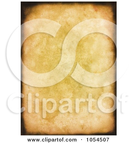 Royalty-Free Clip Art Illustration of a Grungy Canvas Background With Burnt Edges by KJ Pargeter