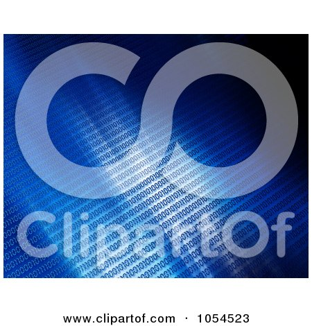 Royalty-Free Clip Art Illustration of a Background of Blue Binary Coding by KJ Pargeter