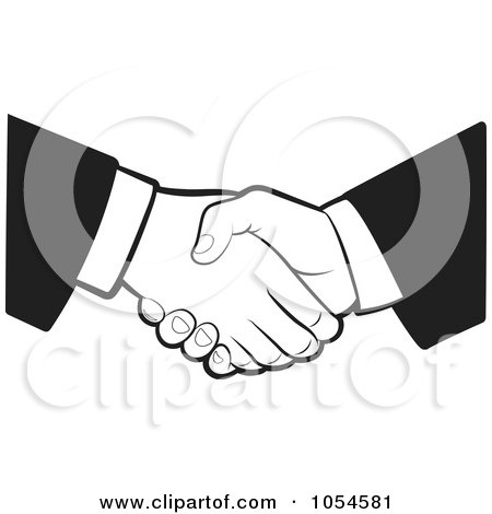 Black And White Business Handshake Posters, Art Prints