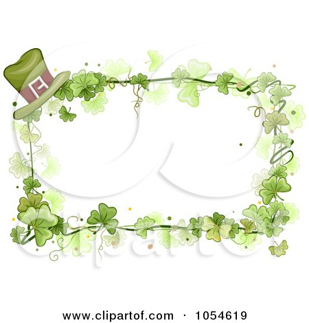 Royalty-Free Vector Clip Art Illustration of a St Patricks Day Shamrock Background With Copyspace - 6 by BNP Design Studio