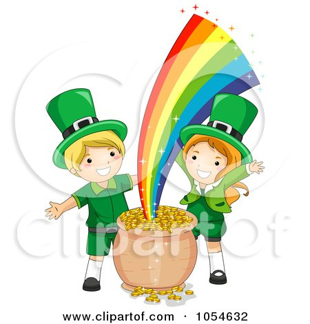 Royalty-Free Vector Clip Art Illustration of a Pot Of Gold And ...