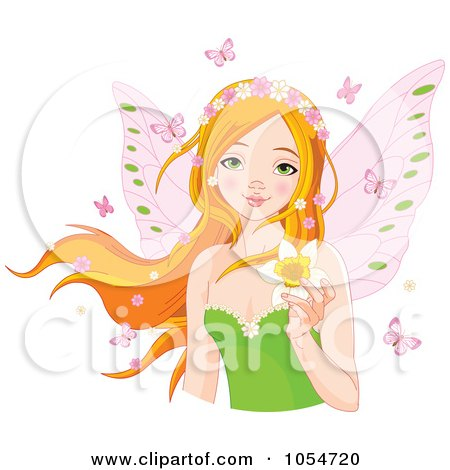 Free Vector Illustration on Royalty Free Vector Clip Art Illustration Of A Red Haired Fairy