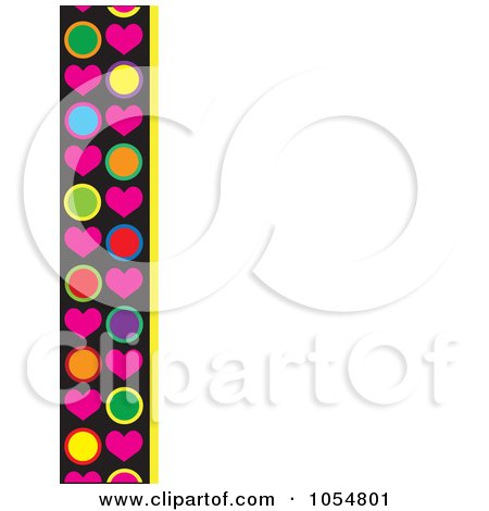 Royalty-Free Vector Clip Art Illustration of a Border Of Hearts And Circles by Maria Bell