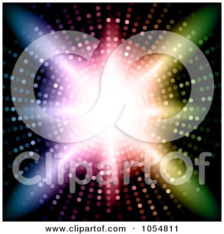 Royalty-Free Vector Clip Art Illustration of a Vortex Of Colorful Lights, Bright Light Shining In The Center by KJ Pargeter
