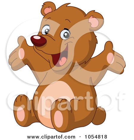 Royalty-Free Vector Clip Art Illustration of a Cute Bear Holding Out His Arms by yayayoyo